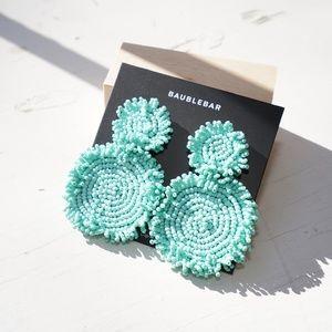 Baublebar Rianne Drop Clip-On Earrings in Mint